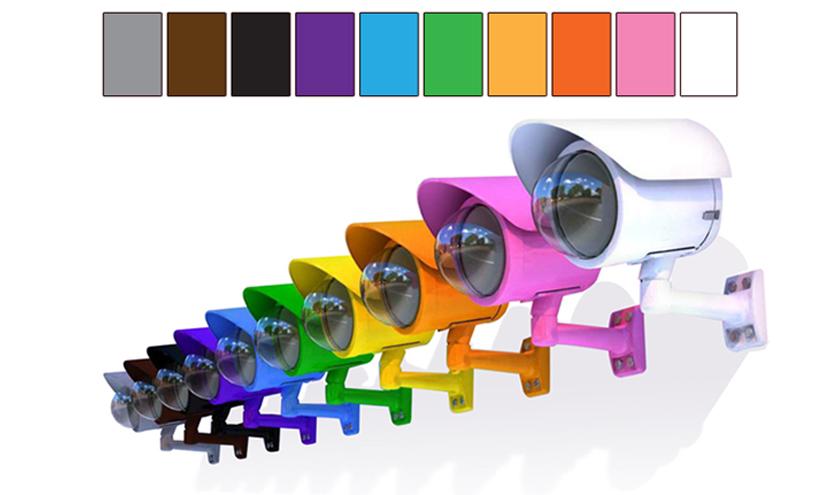 三恵ネットの10種類のカラーリングパナソニックネットワークカメラ筐体APbox。