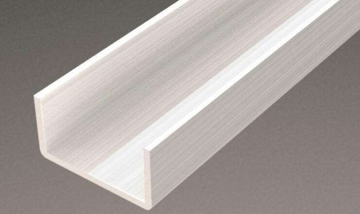 アルミ型材対応形状事例Cチャンネル。三恵ネットの日本製アルミ型材製品一覧。