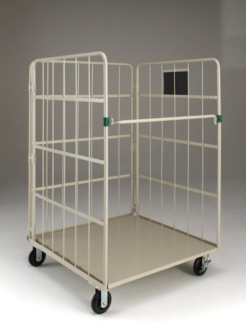 高品質低価格のコンテナ輸入品カゴ台車。三恵ネットの商業施設製品一覧。