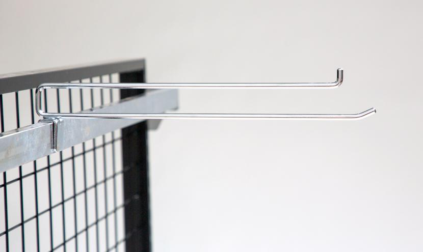 高品質低価格のコンテナ輸入線材加工品角バーフック。三恵ネットの商業施設製品一覧。