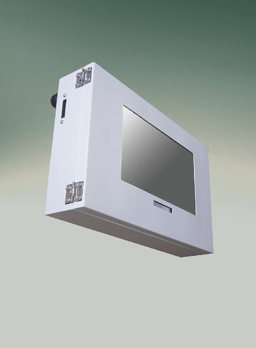 デジタルサイネージハウジング・筐体。三恵ネットの特注防犯・防災カメラと電気機器用ハウジング製品一覧。