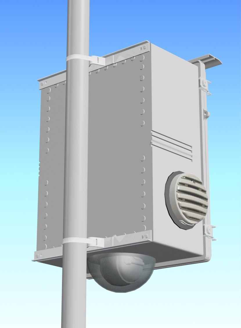 ルーターボックスハウジング・筐体施工事例。三恵ネットの特注防犯・防災カメラと電気機器用ハウジング製品一覧。