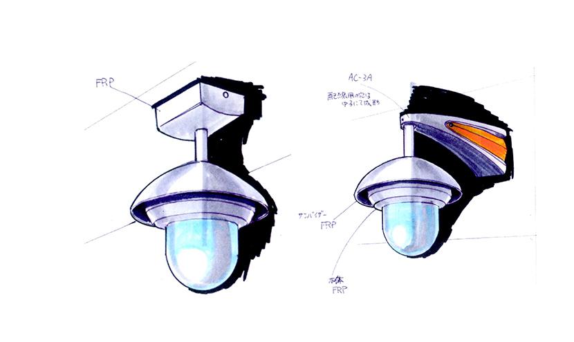 納入までの流れデザイン。特注防犯・防災カメラハウジング開発・製造。