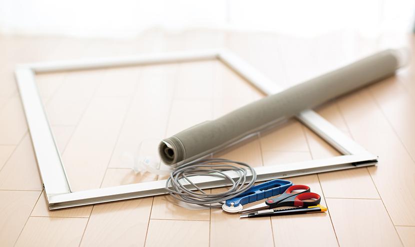 誰でもできる!網戸の張り替え方法。