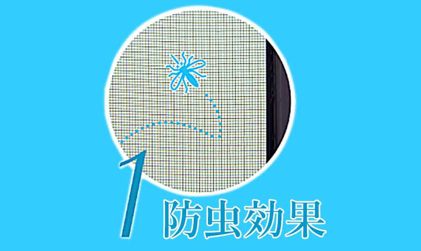 スッキリ見えて通気性抜群、小さな虫の侵入も防ぐ快適ネット。防虫効果が高い網戸防虫網快適ネットなら株式会社三恵ネット。