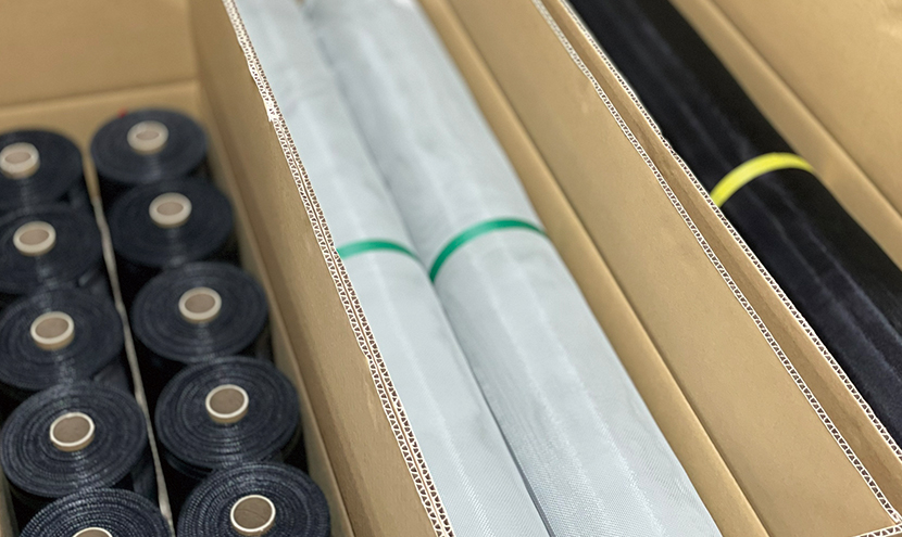 防虫網の種類。網戸・防虫網のプロのこだわり。防虫網メーカーの製造工程と品質保証。