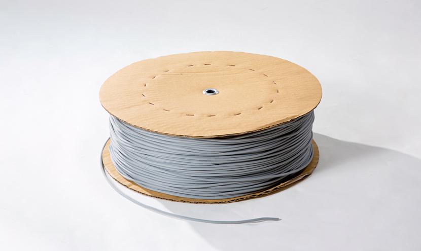 網押さえゴムギザ付き色はグレー。網戸張り替え網押さえゴム製品一覧。