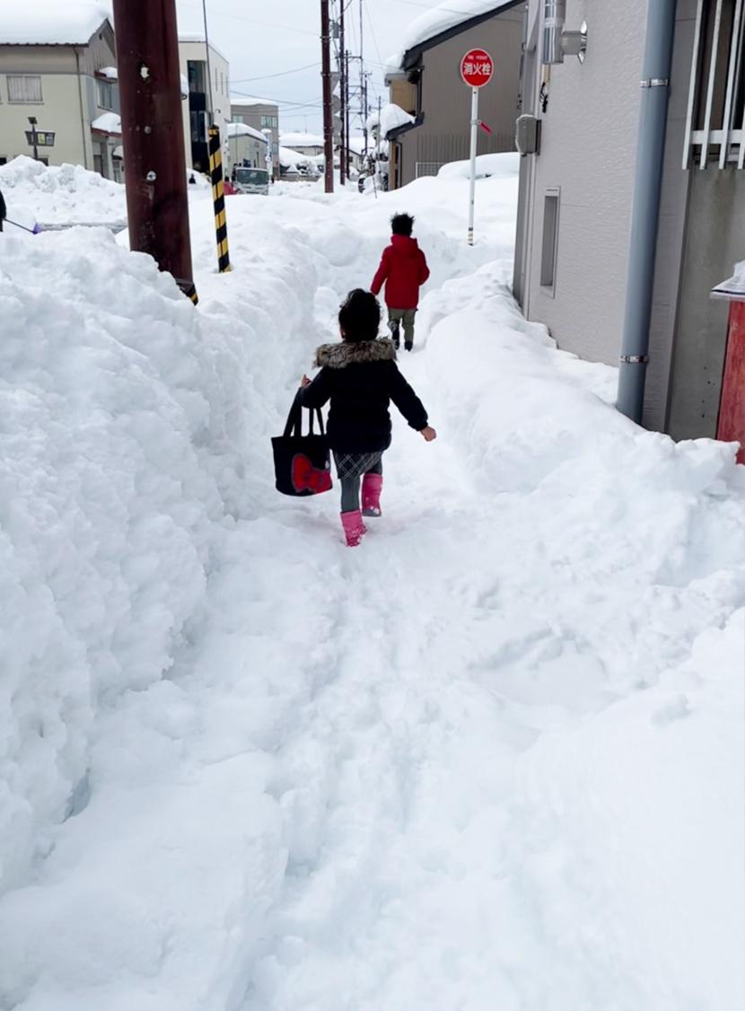 富山県大雪災害に備える(富山市、高岡市、砺波市)。歩道が除雪されていないと歩くのも危険です。