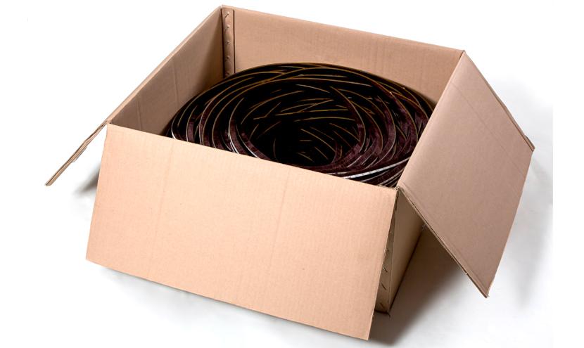 モヘアの振り落とし梱包。三恵ネットの気密材モヘア・パイルウェザーシールの梱包について。